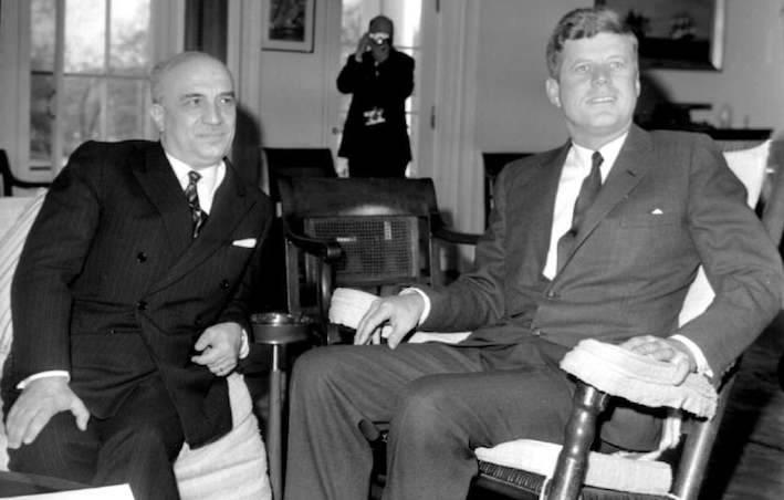 Fanfani con Kennedy alla Casa bianca.