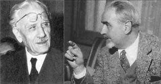 Ferruccio Parri ( a sinistra) e Ernesto Rossi.