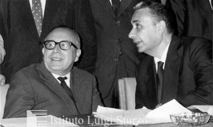 Mariano Rumor e Aldo Moro.