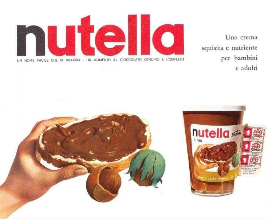 La Ferrero lancia la Nutella, strepitoso e intramontabile successo mondiale.