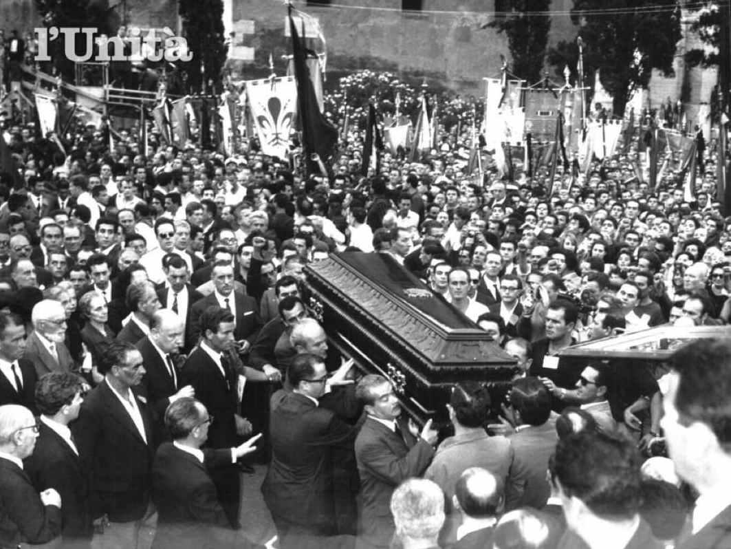 I funerali di Togliatti a Roma.