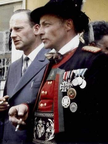 Georg Klotz (a destra) e Luis Amplatz, capi dell'organizzazione terroristica BAS, per la secessione dell'Alto Adige.