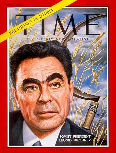 Leonid Breznev sulla copertina di Time.