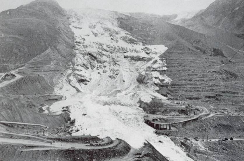 La valanga di due milioni di metri cubi piombata sul cantiere di Mattmark.