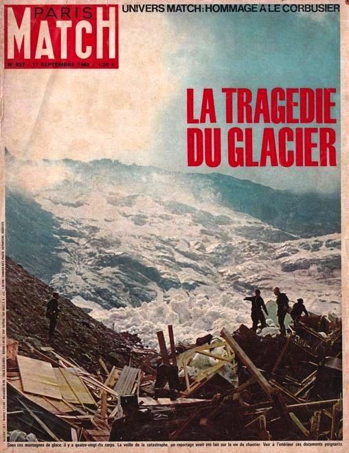 La tragedia di Mattmark sulla copertina di Paris Match.