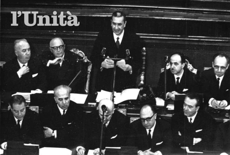 Moro presenta al Parlamento il suo III governo.