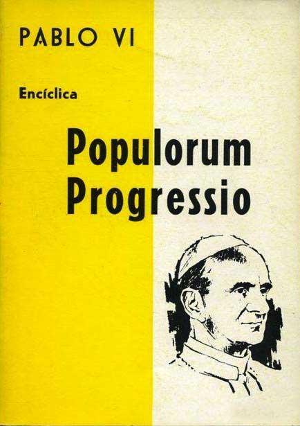 """La copertina dell'Enciclica """"Populorum progressio""""."""