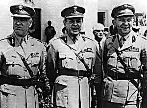 I colonnelli greci, animatori del colpo di stato in Grecia.