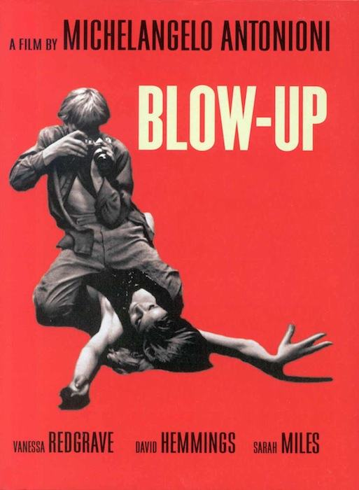 """Locandina del film """"Bolw up"""" vincitore a Cannes nel maggio 1967."""