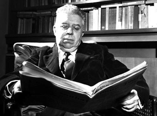 Il poeta Eugenio Montale nominato senatore a vita dal Presidente Saragat.