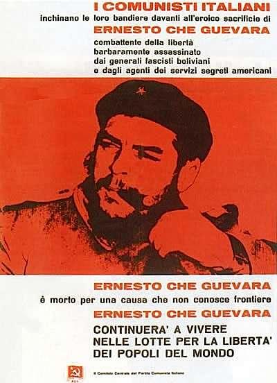 Manifesto dei comunisti italiani per la scomparsa di Che Guevara.