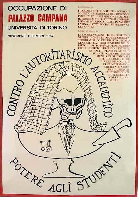 Manifesto dell'occupazione di Palazzo Campana (Università di Torino).