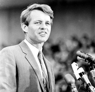 Robert Kennedy, candidato democratico alla Presidenza USA.