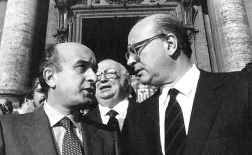 Ciriaco De Mita e Bettino Craxi.