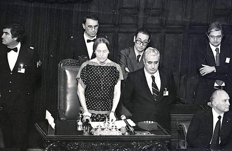 Nilde Iotti il 12 luglio 1983 viene eletta Presidente della Camera.