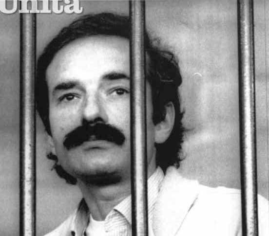Valerio Morucci condannato all'ergastolo nel processo torinese alle Brigate rosse concluso il 26 luglio 1983.