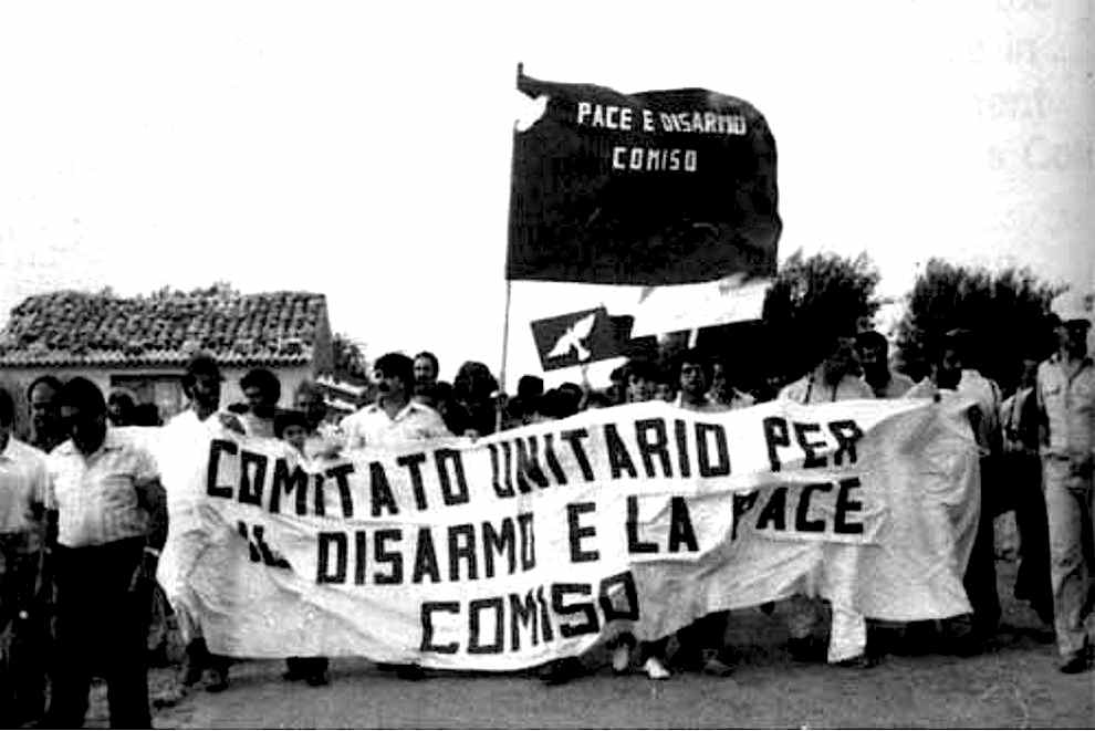 La manifestazione pacifista a Comiso del 6 agosto 1983.