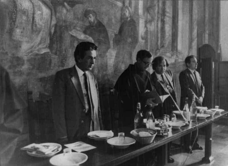 L'incontro di Berlinguer con i francescani di Assisi dell'8 ottobre 1983.