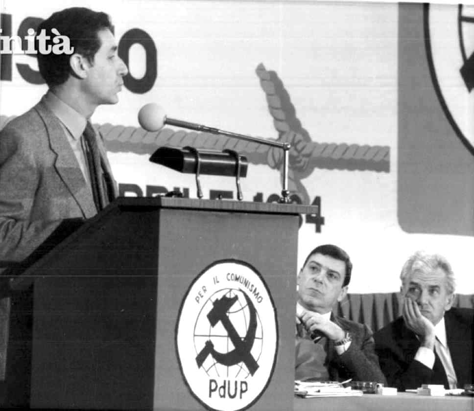 L'indipendente di sinistra Stefano Rodotà interviene al IV congresso del Pdup del 1984.