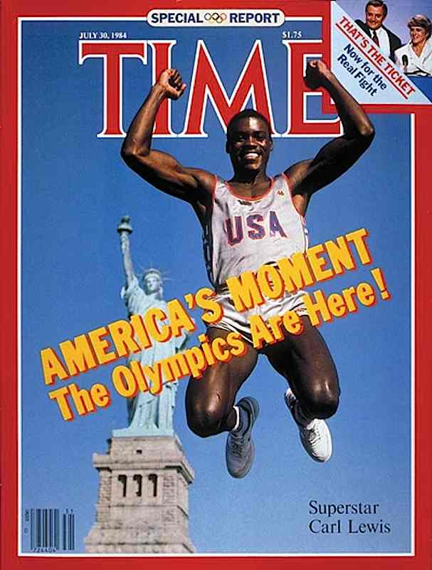 Copertina di Time per le Olimpiadi di Los Angeles del 1984.