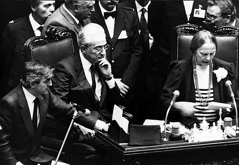 Nilde Iotti 24 giugno 1985 proclama Francesco Cossiga nuovo Presidente della Repubblica.