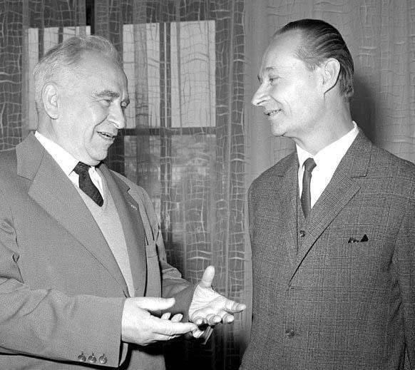 Luigi Longo con Alexander Dubcek.