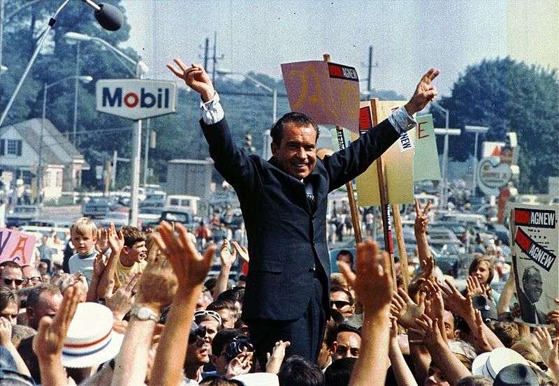 Richard Nixon, vincitore delle elezioni presidenziali americane del 1968.