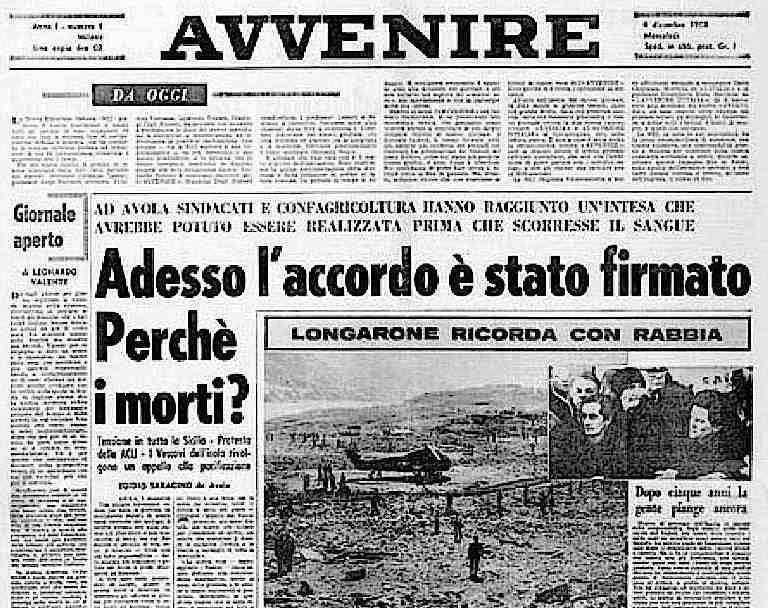 Il primo numero in edicola di Avvenire, quotidiano cattolico.