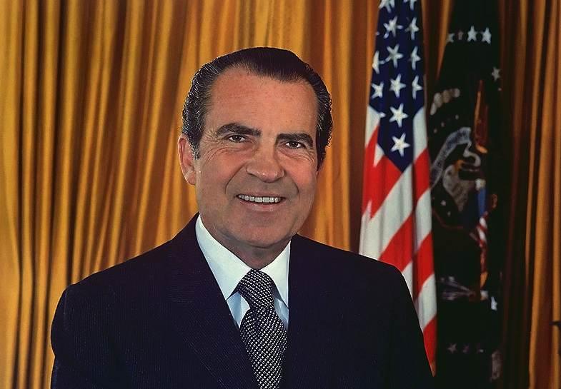 Richard Nixon, 37° Presidente degli Stati Uniti d'America.