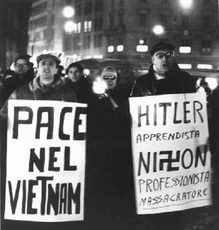 Proteste contro Nixon e la guerra in Vietnam.
