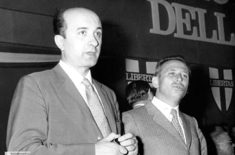 Ciriaco De Mita (a sinistra) con Luigi Granelli della corrente di Base della DC.