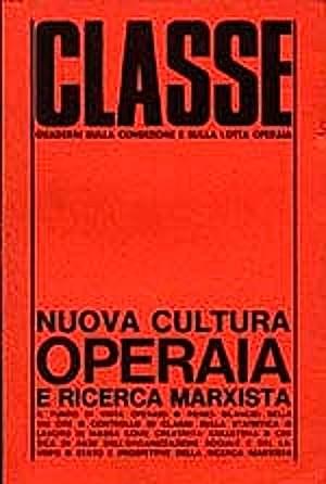 Copertina della rivista Classe, animata da Oreste Scalzone.