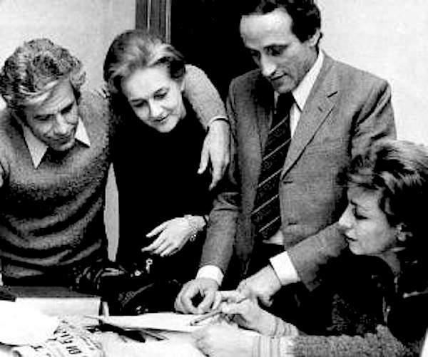 Redattori de Il Manifesto (da sinistra Magri, Rossanda, Milani e Castellina).