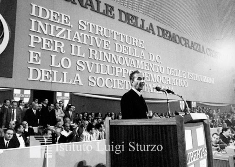 L'intervento di Aldo Moro all'XI congresso della DC.