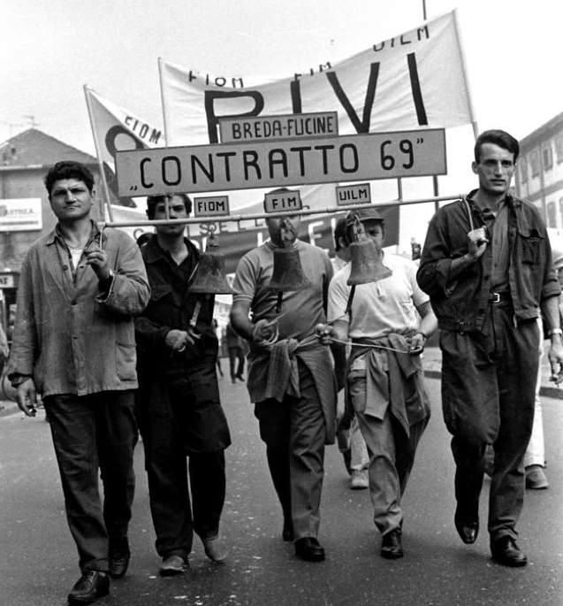 Metalmeccanici milanesi in lotta per il contratto.