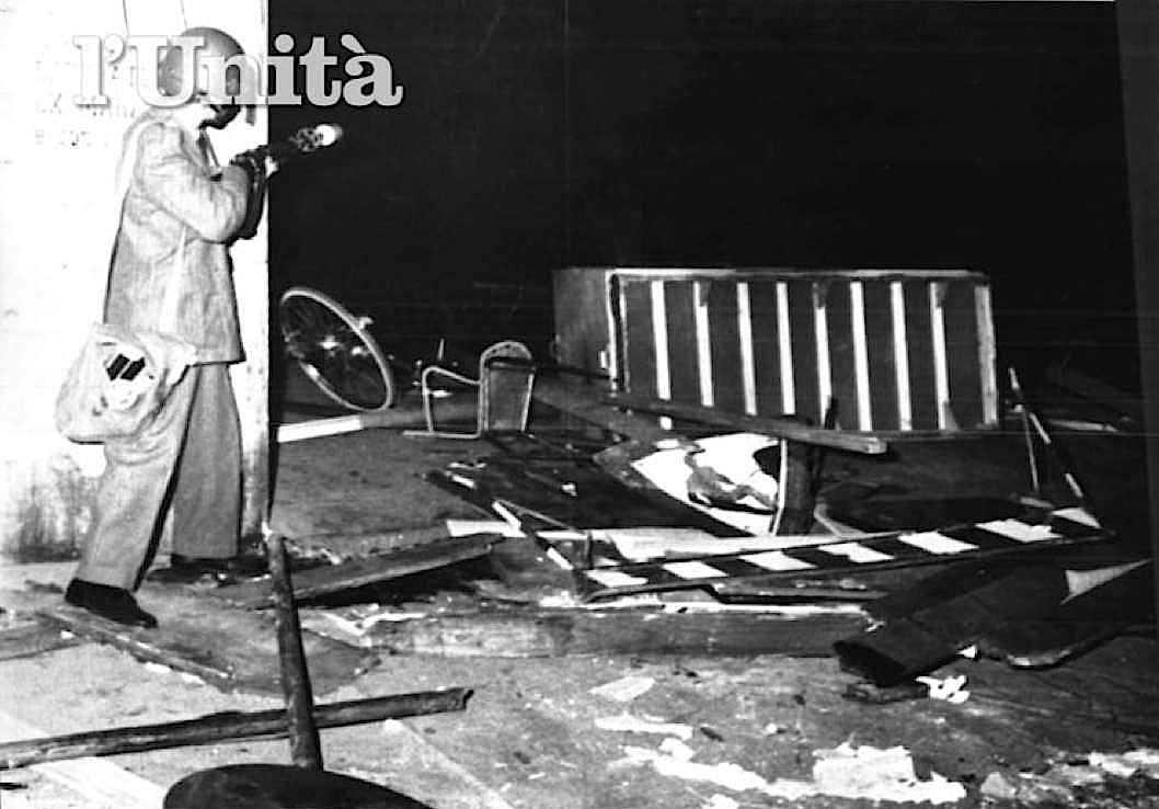 Poliziotto impegnato negli scontri del 27 ottobre 1969 a Pisa con militanti di Potere operaio.