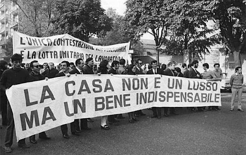 Il corteo milanese del 19 novembre 1969.