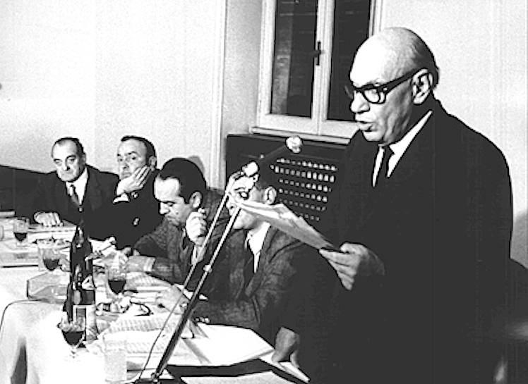 Agostino Novella durante la conferenza stampa del gennaio 1970.