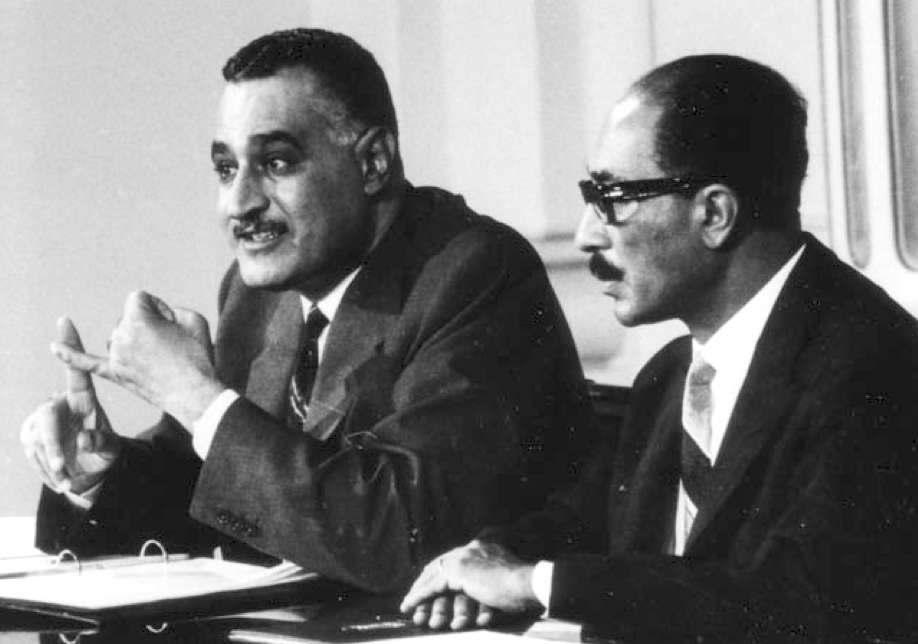 Nasser (a sinistra) con il suo successore Sadat.