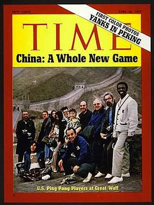 La copertina di Time dedicata alla diplomazia del ping pong.