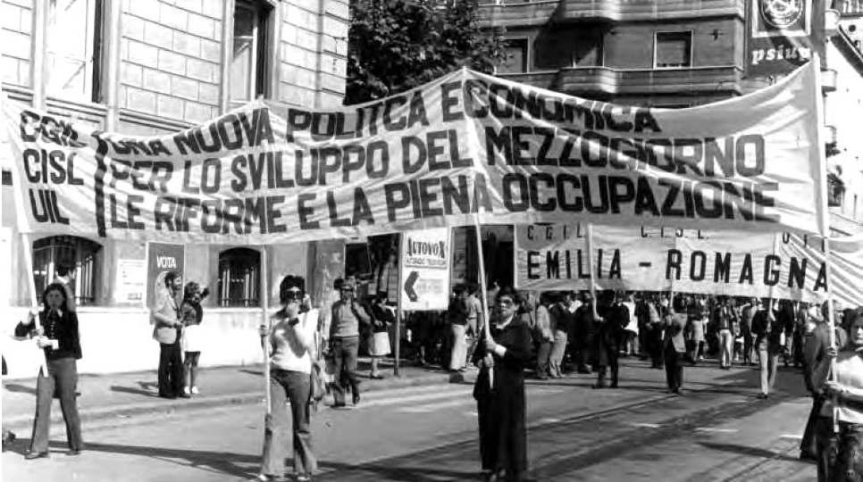 Manifestazione nazionale del 30 maggio 1971 a Roma per il Mezzogiorno, le riforme e l'occupazione.