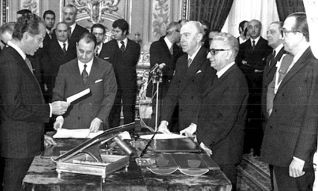 Il giuramento del I governo Andreotti.