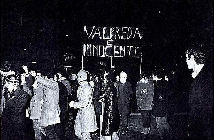 Manifestazione a Milano per la scarcerazione di Pietro Valpreda.