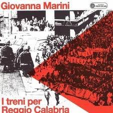Copertina della canzone di Giovanna Marini per gli attentati del 21 ottobre 1972 ai treni diretti a Reggio Calabria.