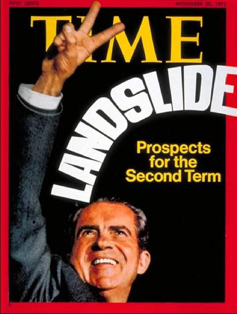 Copertina di Time dedicata alla rielezione di Nixon a Presidente degli Usa.