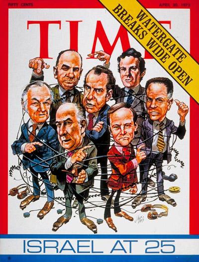 Copertina di Time dedicata allo scandalo Watergate.