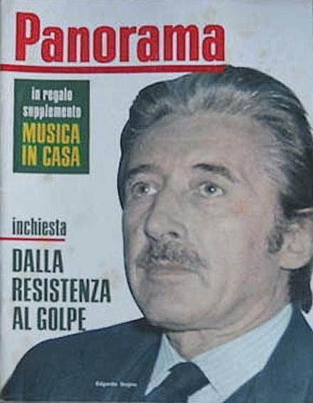 Edgardo Sogno sulla copertina di Panorama.