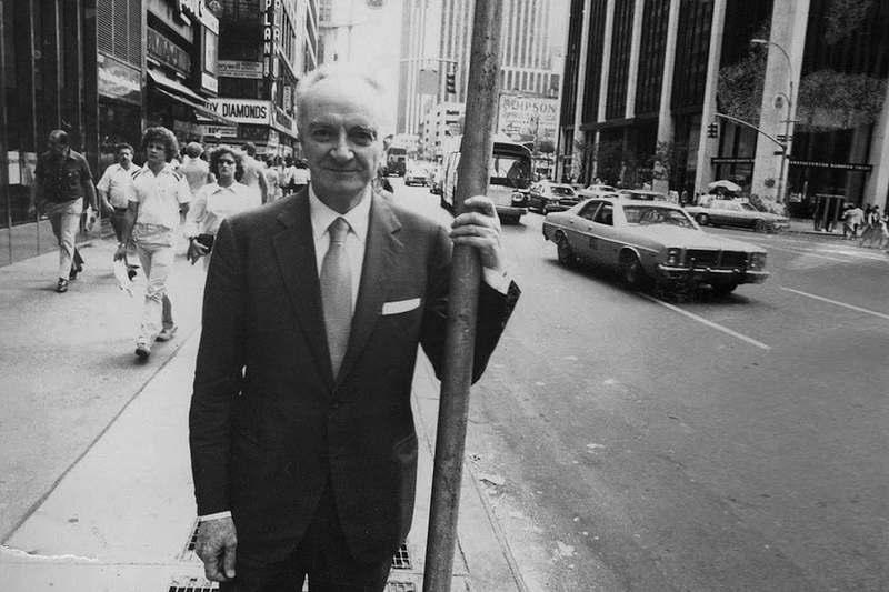 Michele Sindona negli Stati uniti dove fuggì nel 1974.