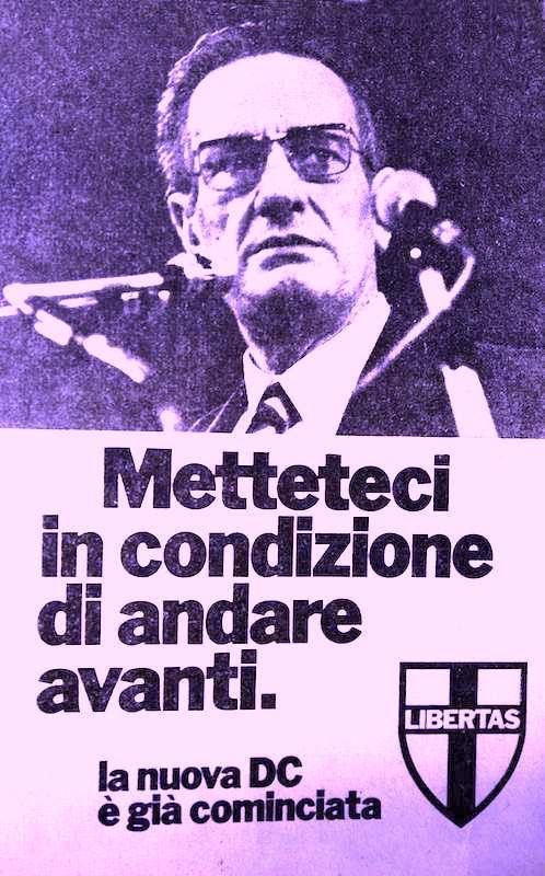 Manifesto della Dc dopo l'elezione di Zaccagnini a segretario nazionale.