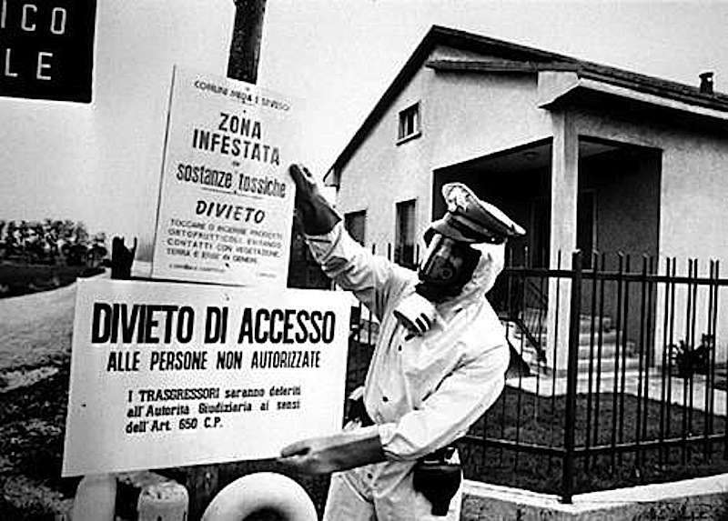 La zona intorno a Seveso venne contaminata dalla fuga di diossina fuoriuscita dall'Icmesa il 10 luglio 1976.